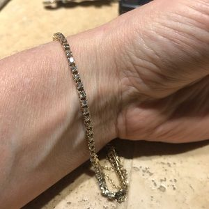 3.05 carat SI-2 Diamond 14k gold bracelet